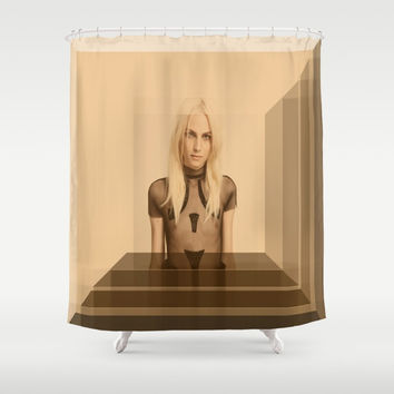 androgyny Shower Curtain by Kathead Tarot/David Rivera