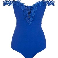 **Lace Bardot Sweetheart Bodysuit by Rare