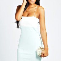 Millie Contrast Colour Bodycon Dress