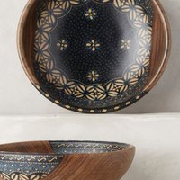 Batik Serving Bowl by Anthropologie in Black Motif Size: