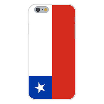 Apple iPhone 6 Custom Case White Plastic Snap On - Chile - World Country National Flags