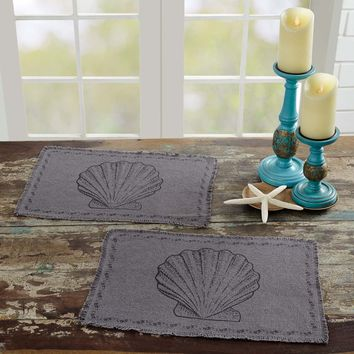 Sandy Grey Burlap Placemats