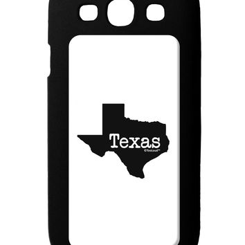 Texas - United States Shape Galaxy S3 Case  by TooLoud
