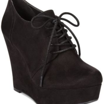 Material Girl Danity Lace Up Platform Wedge Booties | macys.com