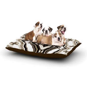 "Dawid Roc ""Inspired By Psychedelic Art 6"" Brown Pattern Dog Bed"