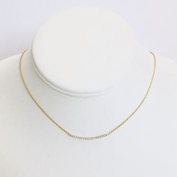 Raising the Bar Gold Diamond Necklace