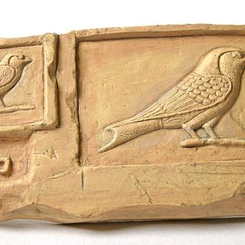 Swallow Bird Egyptian Small Relief with Desk Stand 6.25L