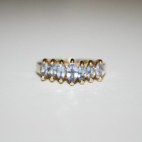 Size 6.5 10K Vintage Gold and Tanzanite Ring by StansGoldMine