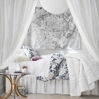 Winter Rose Duvet Bedding Set with Duvet Cover, Duvet Insert, Sham, Sheet Set + Pillow Inserts