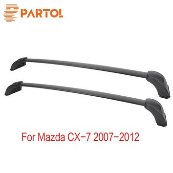 Partol Car Roof Rack Cross Bars Crossbars Top Box Luggage/Cargo/Snowboard Carrier Rail For Mazda CX-7 2007 2008 2009 2010-12