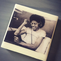 Michael Jackson Ceramic Tile Drink Coaster; Home Decor; House Warming Gift; Musicians; Iconic Artisit; King of Pop; Rock and Roll; Thriller