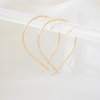 Gold Inverted Hoops