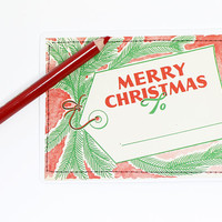 post card vintage | Christmas | handmade upcycled | gift tag