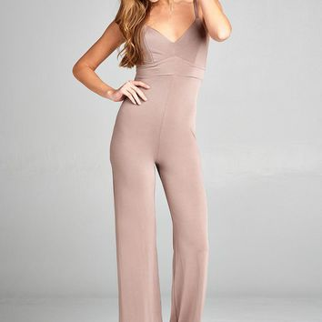 Cross Back Knit Jumpsuit