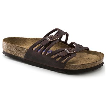 Granada Sandal in Habana Oiled Leather with Soft Footbed by Birkenstock