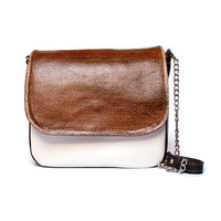 "Unique, Modern, Elegant Natural Leather Bag ""Coffee Grain"" in shades of Pearl, Chocolate and Coffe from BAABA BAGS/ perfect gift for women"