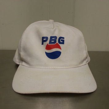 Vintage 80's Pepsi Bottling Group PBG Snapback Dad Hat Soft Drink Soda Promotional Advertising Cap