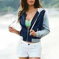 Fleece Twill Hoodie - Victoria's Secret