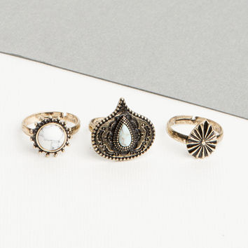 Mini Stone Ring Set