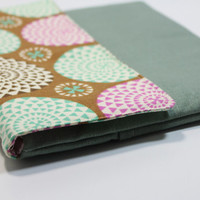 "Mac Book Air 11"" Sleeve Padded Microsoft Surface 2 Clutch case Padded Handmade Cover- Dotted Circles"
