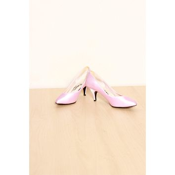 Pink Satin Party Heels  / Size 6.5