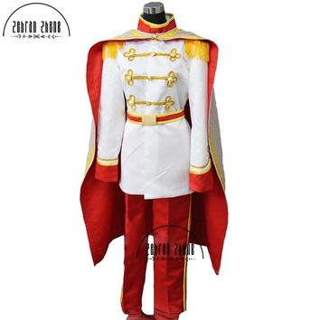 Arrival Custom Adult Prince Charming Cosplay Costume Cinderella Shipping