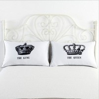 2pcs Queen/King Cotton Standard Pillow Case