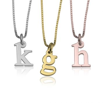Small Initial Necklace