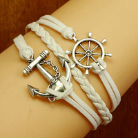 Anchor BraceletNautical BraceletAntique aliverWax by Firegarden