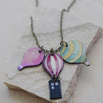 Up Up and Away Necklace // Doctor Who Inspired