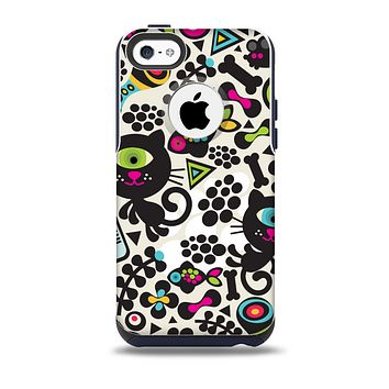 Cute, Colorful One-Eyed Cats Pattern Skin for the iPhone 5c OtterBox Commuter Case