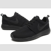 """NIKE"" roshe Trending Fashion Casual Sports A Simple yet Powerful Style Nike Shoes Black"