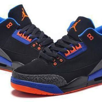 Hot Air Jordan 3 Retro Women Shoes Black Orange