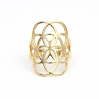 Seed of Life Ring - Gold