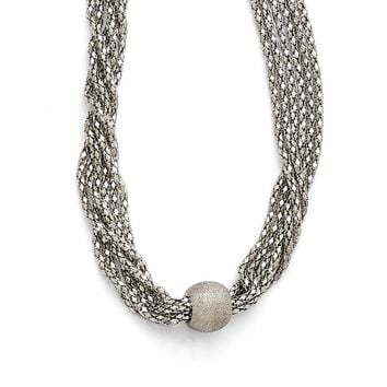 Bead with 6-Strand Necklace in Stainless Steel - Other Clasp Type