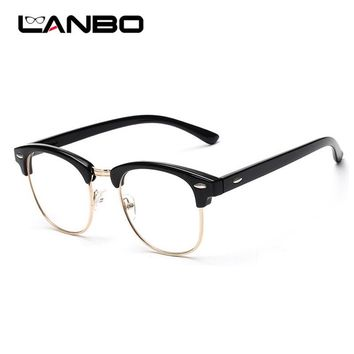 LANBO Women Men Frame Fashion Glasses with Clear Lenses Man Radiation protection Glasses Computer mirror Eyeglasses Frame 3016
