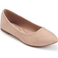 SO® Hitide Women's Pointed Toe Flats, Size: medium (7), Beige Oth