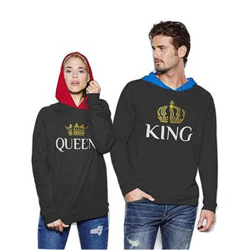 Dropshipping Men Male brand Print black grey anime Hoodie king queen Sweatshirt Patchwork down Jacket Coat clothes detroit