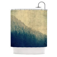 "Robin Dickinson ""Any Road Will Do"" Mountain Tree Shower Curtain"