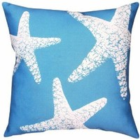 Manual Climaweave Indoor/Outdoor Square Decorative Throw Pillow, 18-Inch, Nautical Nonsense Starfish