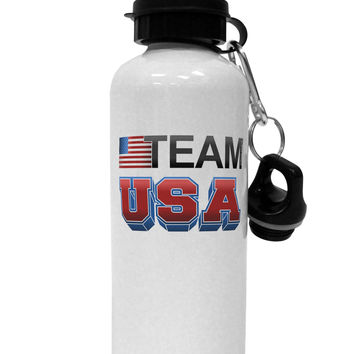 Sporty Team USA Aluminum 600ml Water Bottle