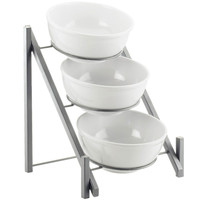 14.5W x 14.375D x 17.875H One by One 3 Tier Bowl Display Silver