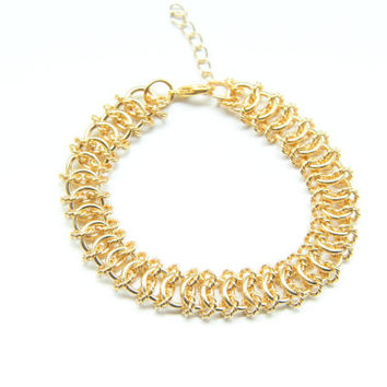 SPRING SALE - 20% OFF! Gold chunky chain Bracelet - 24k gold plated
