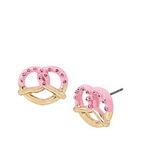 SWEET SHOP PRETZEL STUD EARRINGS: Betsey Johnson