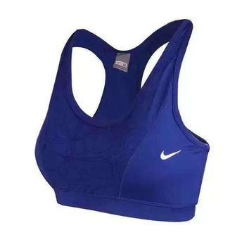 NIKE Women Casual Print Multicolor Yoga Gym Gather Vest Tank Top Cami