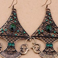 Antique fashion chandelier earrings