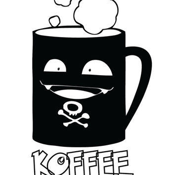 Pokemon Koffing KOFFEE Coffee Funny Decal Sticker
