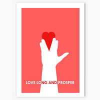 Valentines Card  Star Trek 'Love Long and Prosper' by aCuriousCat