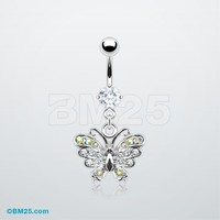 Butterfly Glam Belly Ring