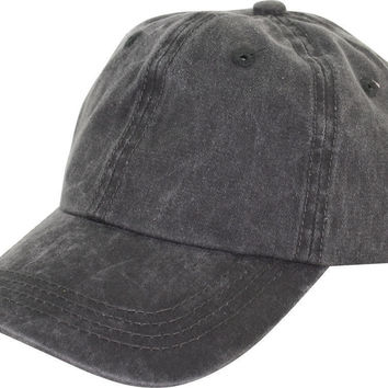 Classic Unisex Washed Cotton Baseball Cap  (7 Color)Great Gifts